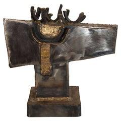 A Mid Century Brutalist Paul Evans Style Sculpture