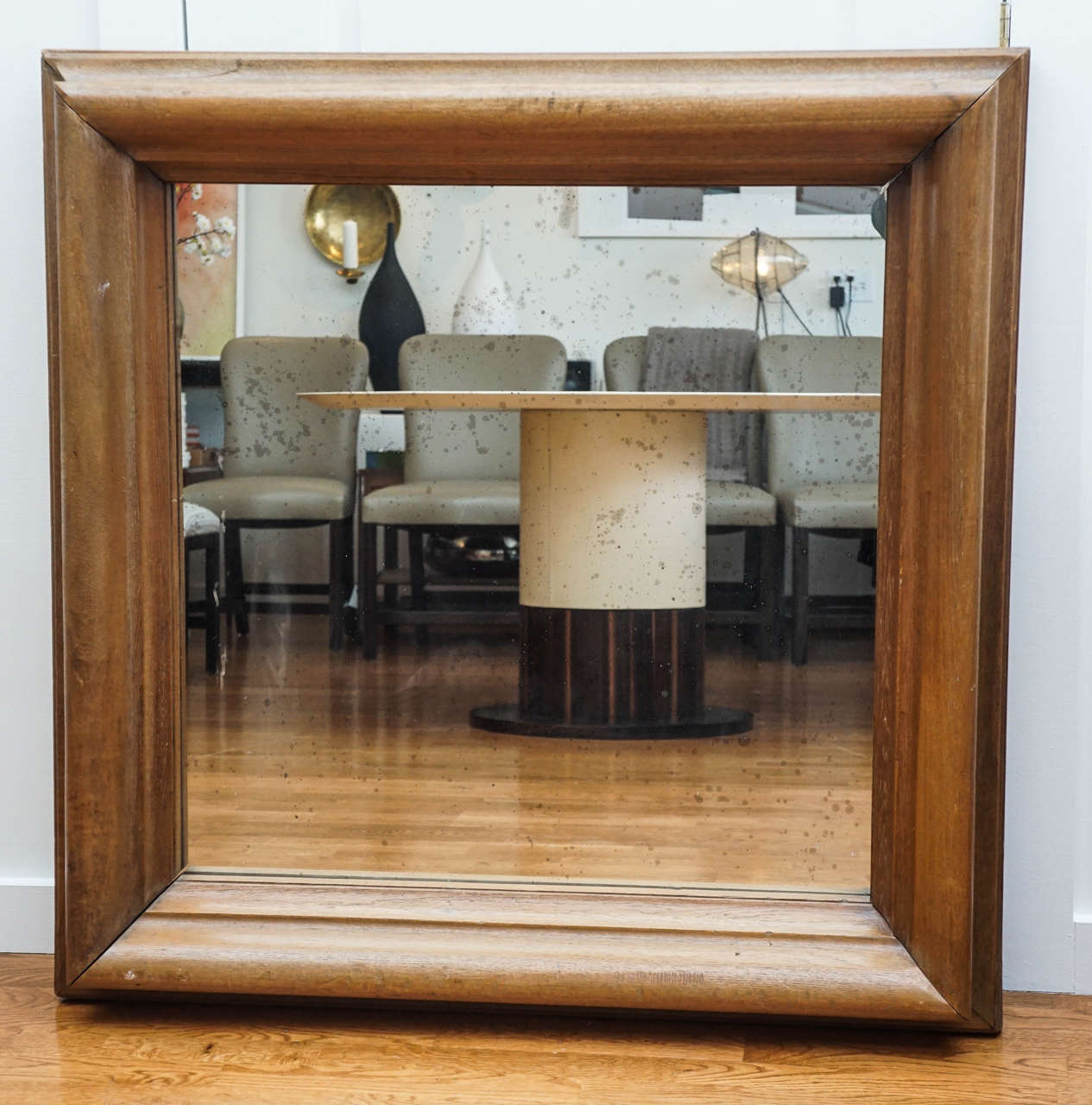 Impressive Large Wood Frame Mirror