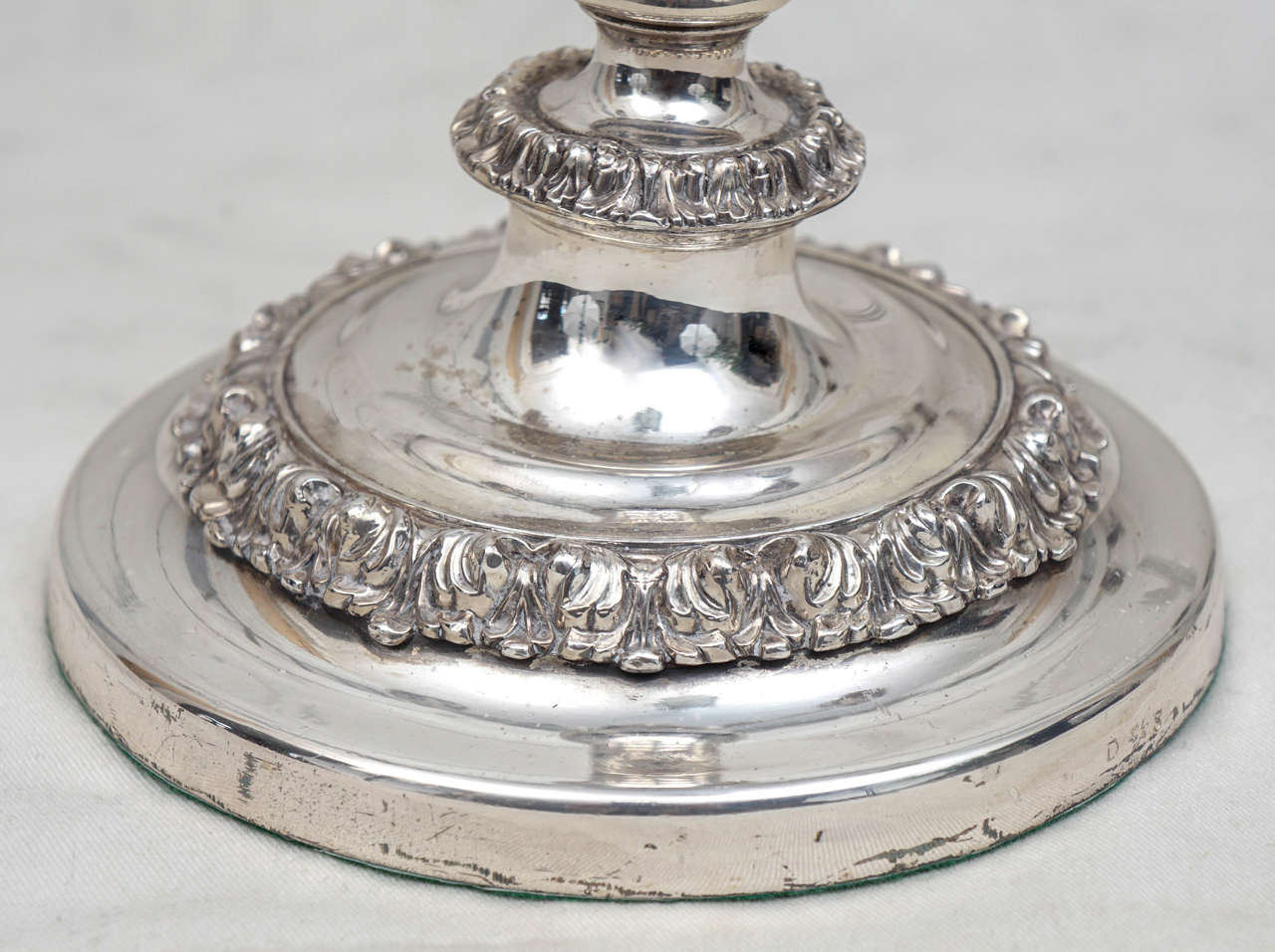 English 19th Century Silver Plated Three-Light Candelabrum For Sale 2