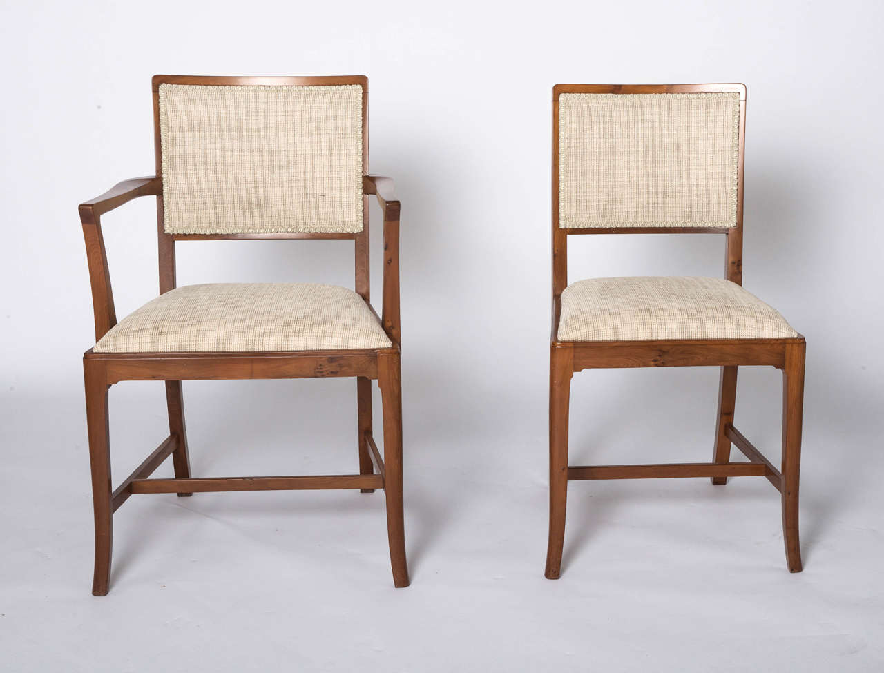 A Set Of Eight Yew Dining Chairs By Heal And Sons London Comprising 6