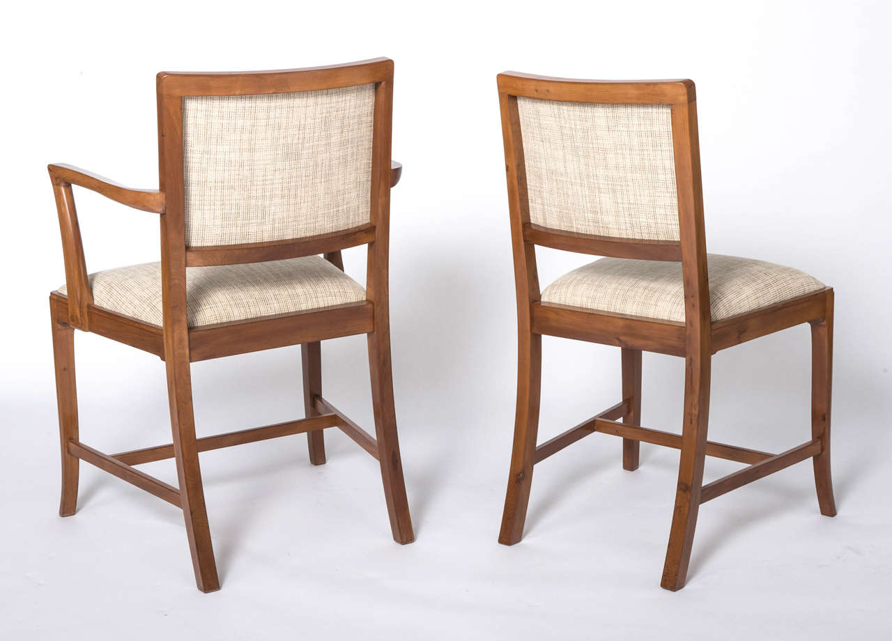 Yew Dining Room Furniture A Set Of Eight Yew Dining Chairs By Heal And Sons Of London For