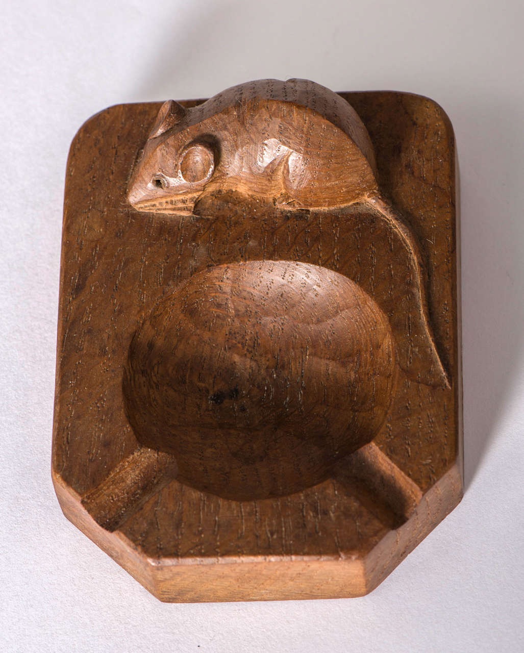 Robert quot mouseman thompson carved oak ashtray at stdibs