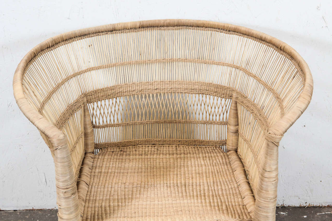South African Wicker Armchair At 1stdibs