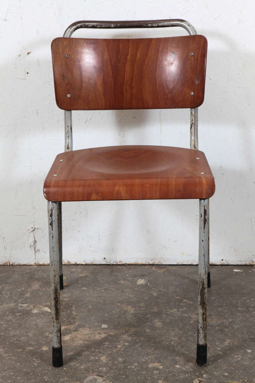 Vintage French School Chairs (Ten Available) For Sale 1 - Vintage French School Chairs (Ten Available) For Sale At 1stdibs