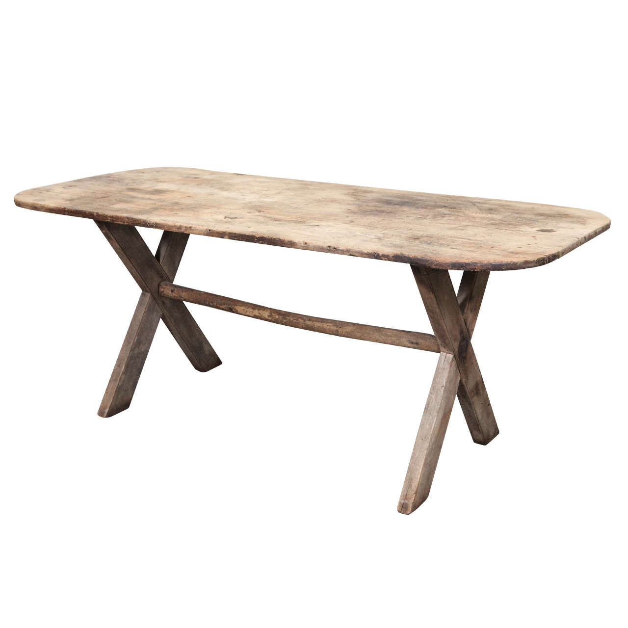 Rustic Dining Table with X Legs at 1stdibs : X from www.1stdibs.com size 1280 x 1280 jpeg 57kB
