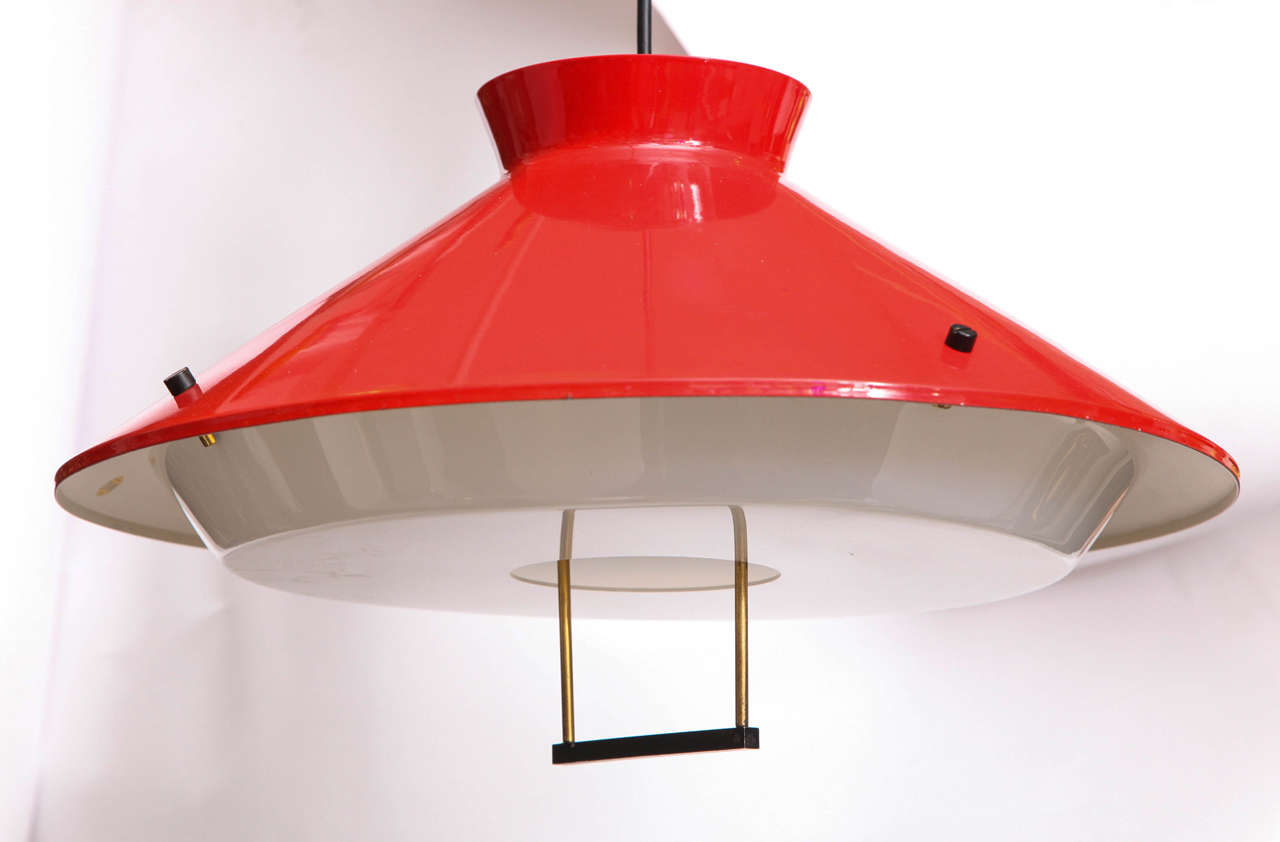 1950s Italian Adjustable Ceiling Fixture, Signed Stilnovo 3
