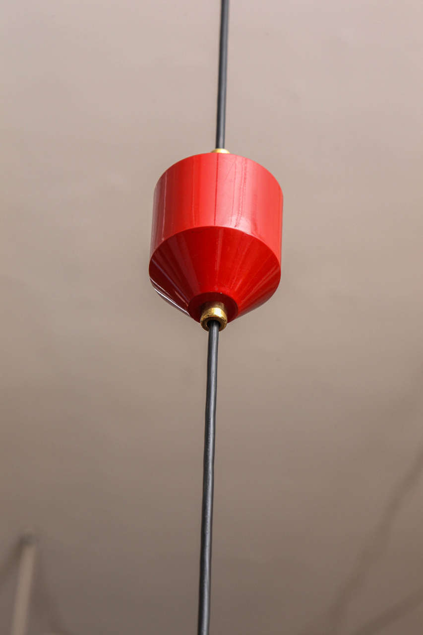 1950s Italian Adjustable Ceiling Fixture, Signed Stilnovo 4