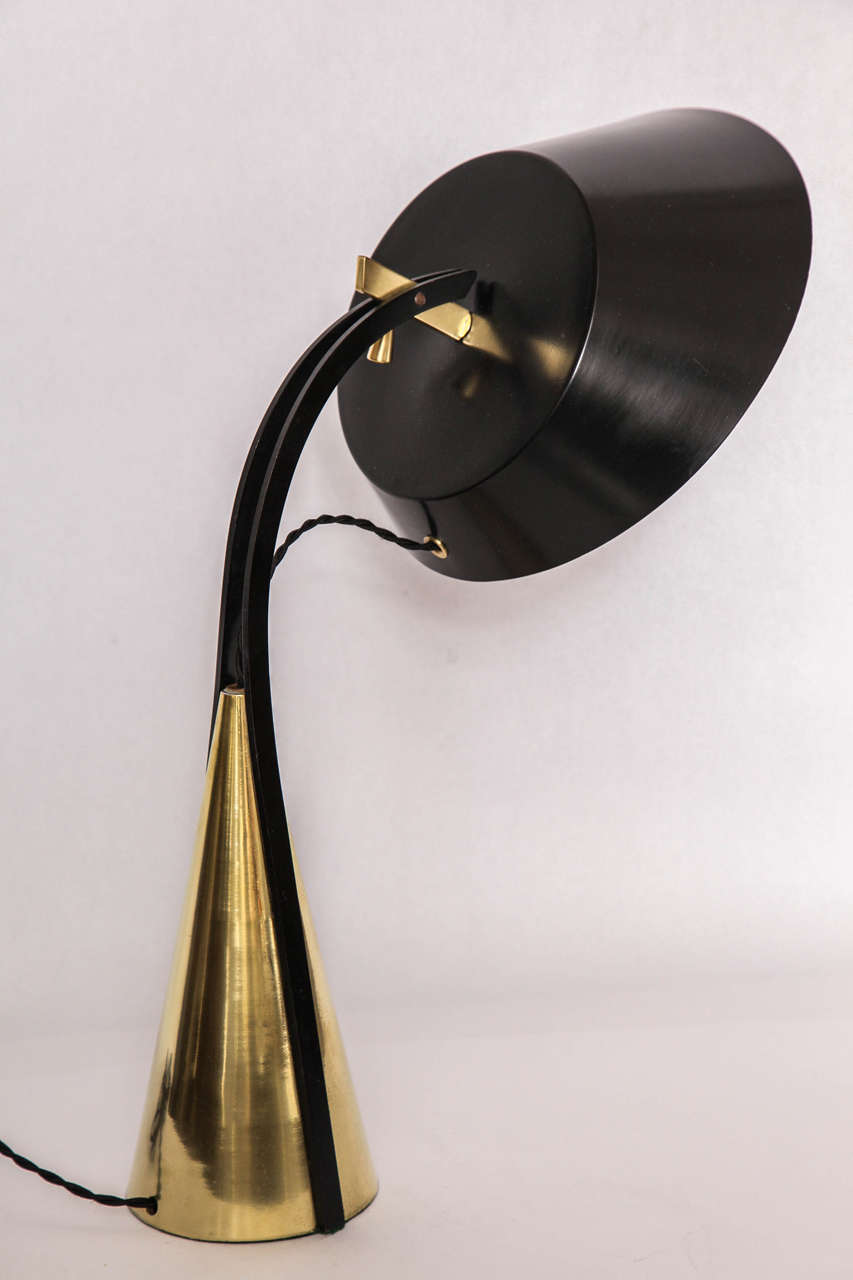 American Articulated Table Lamp, 1950s For Sale