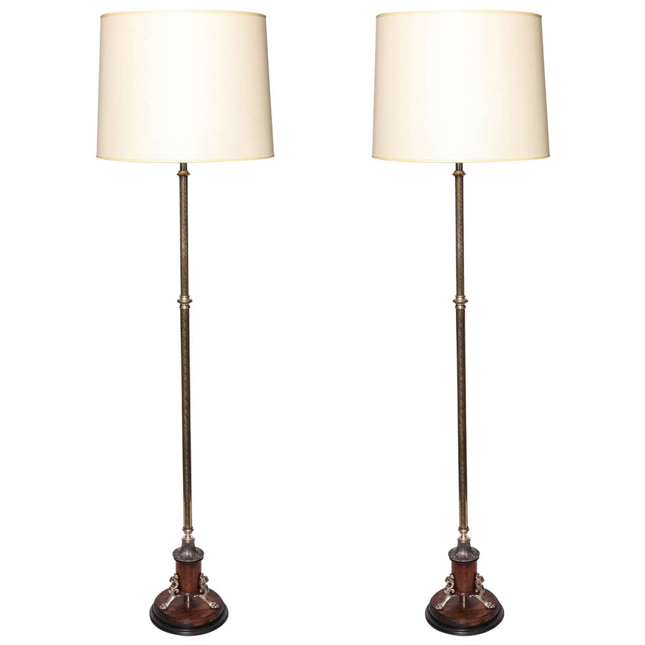Pair of 1920s classical modern adjustable floor lamps at for 1920s floor lamps