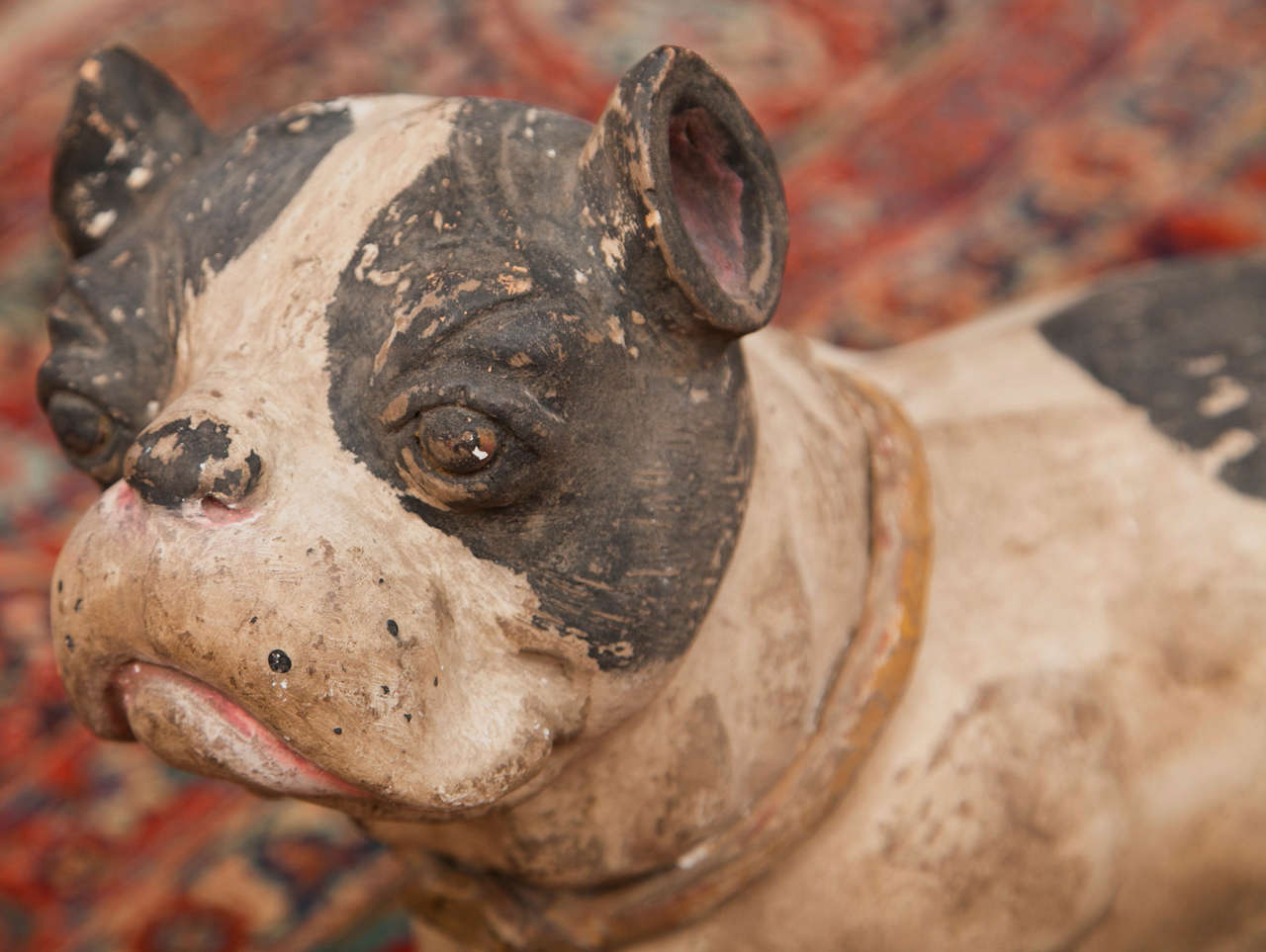 Lifelike Painted Terracotta Dogs Indoor Use Only At 1stdibs