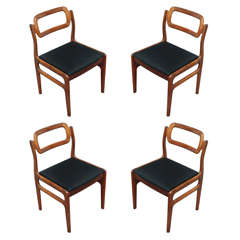 Udlum Mobelfabrik set of four Indian rosewood chairs, Denmark circa 1960
