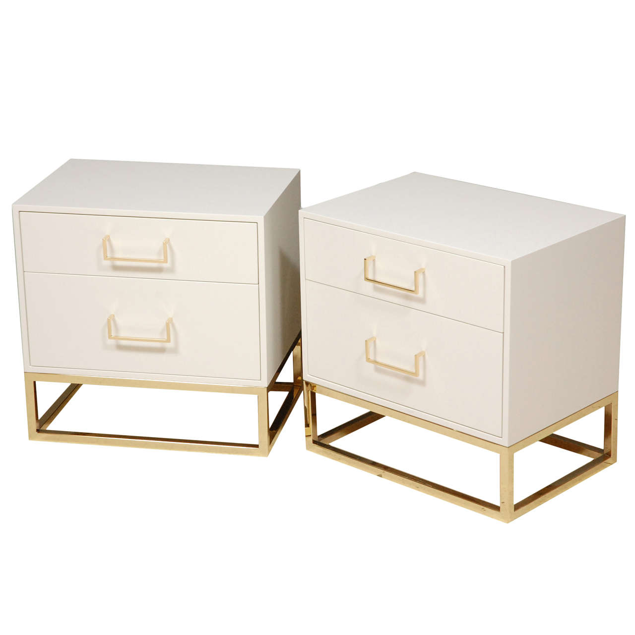Madison Nightstands With Brass Base By Lawson Fenning At