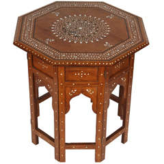 Octagonal Anglo Indian Side Tea Table