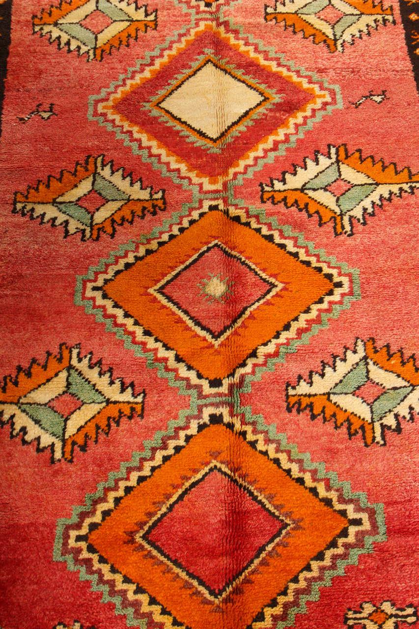 Vintage Moroccan Tribal Rug Runner Matisse Style At 1stdibs