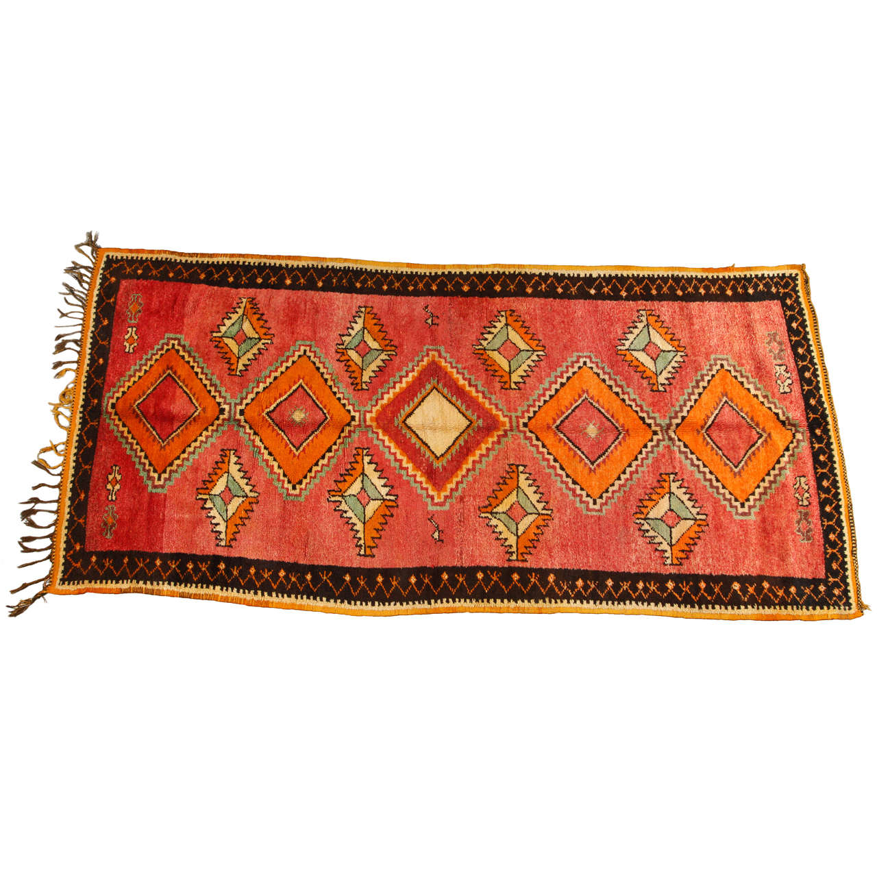 Vintage Moroccan Area Rug For Sale At 1stdibs: Vintage Moroccan Tribal Rug Runner Matisse Style For Sale