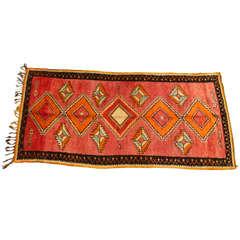 Vintage Moroccan Tribal Rug Runner Matisse Style