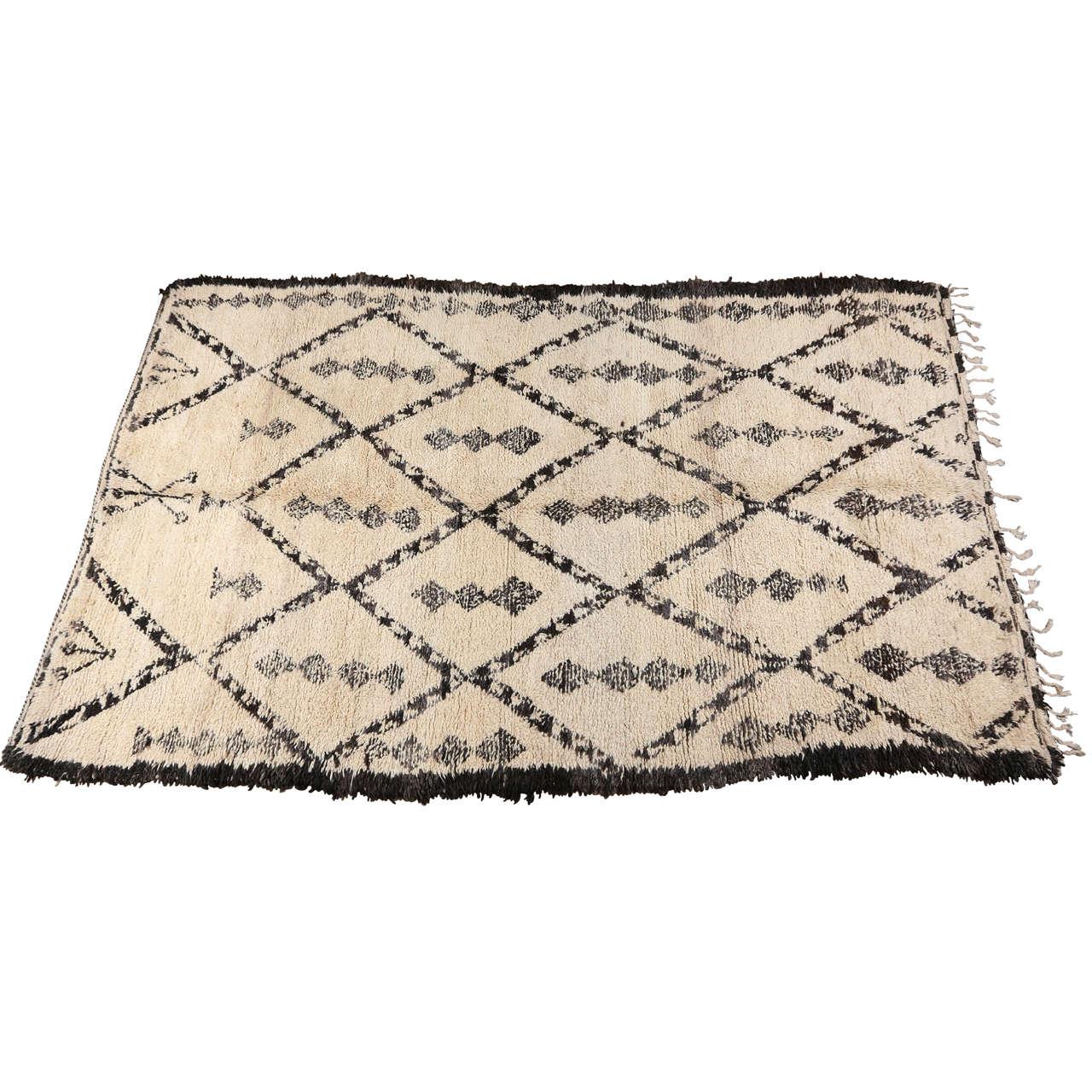 Maroc Tribal Rug: Vintage Moroccan Beni Ouarain Tribal Rug At 1stdibs