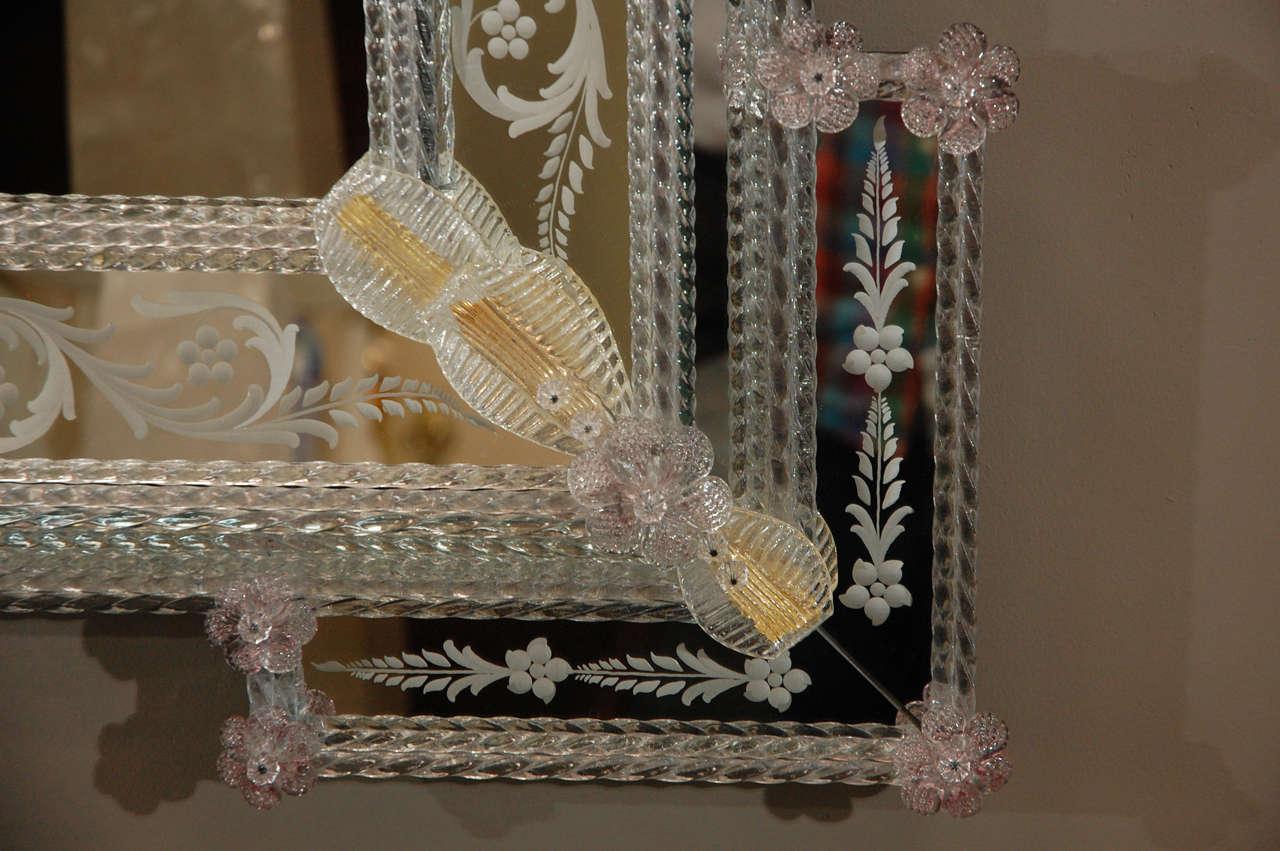 20th Century Delicate Venetian Mirror
