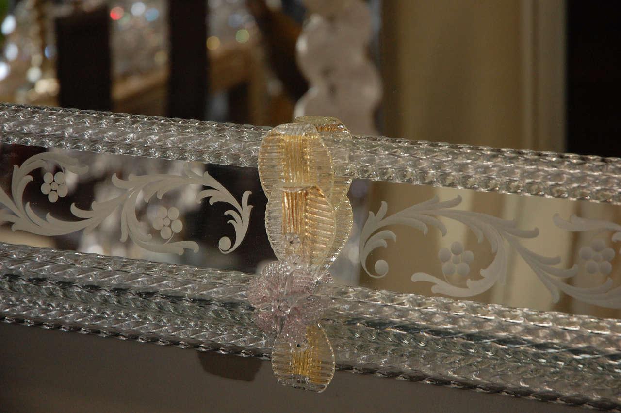 Wood Delicate Venetian Mirror