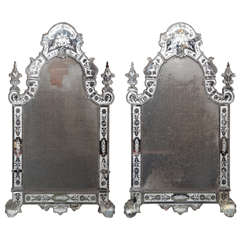 Exceptionally Fine Pair of Oversized Early Venetian Mirrors