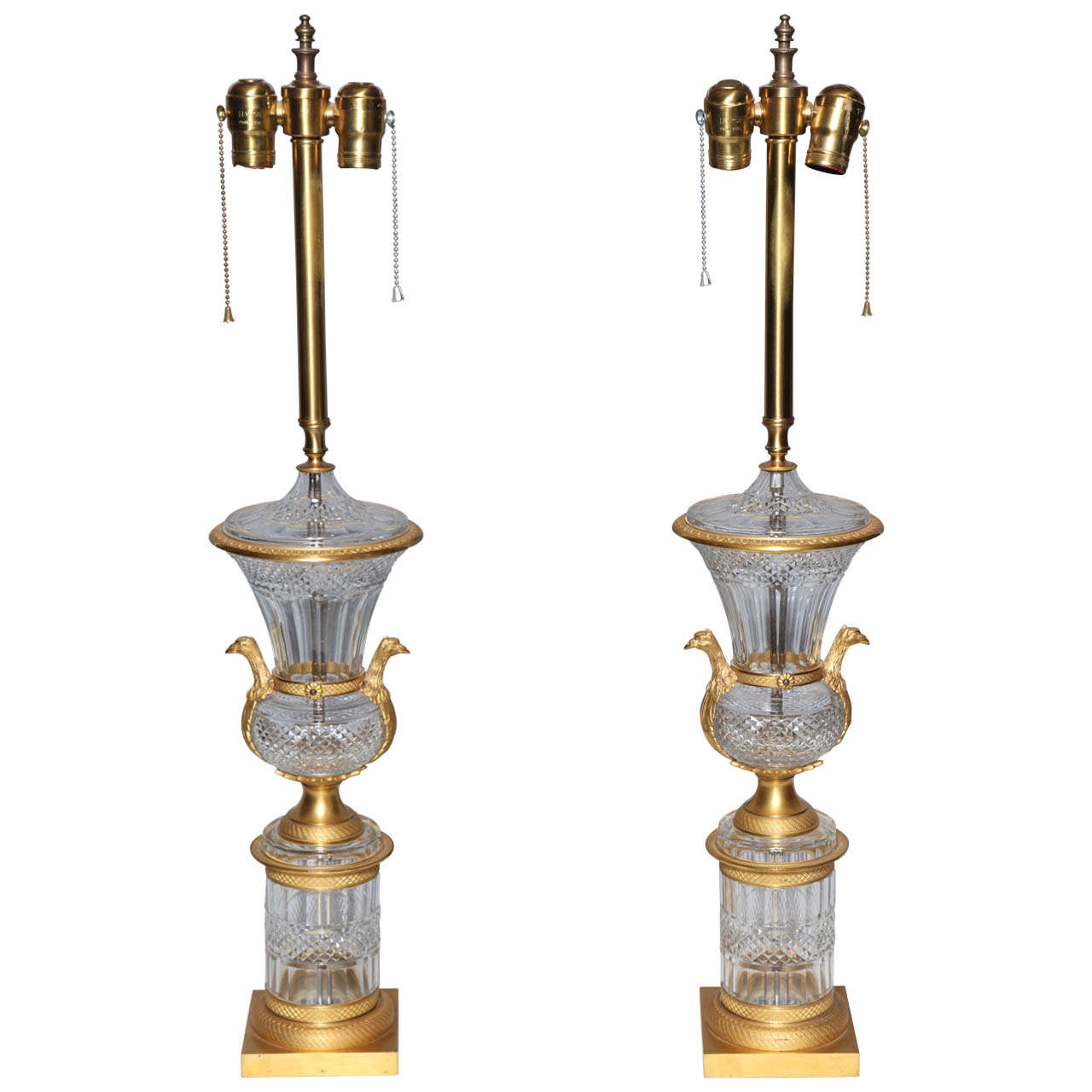 Exquisite pair of antique french crystal and dore bronze mounted urns lamps for sale at 1stdibs - Italian garden design ideas to make exquisite roman era garden ...