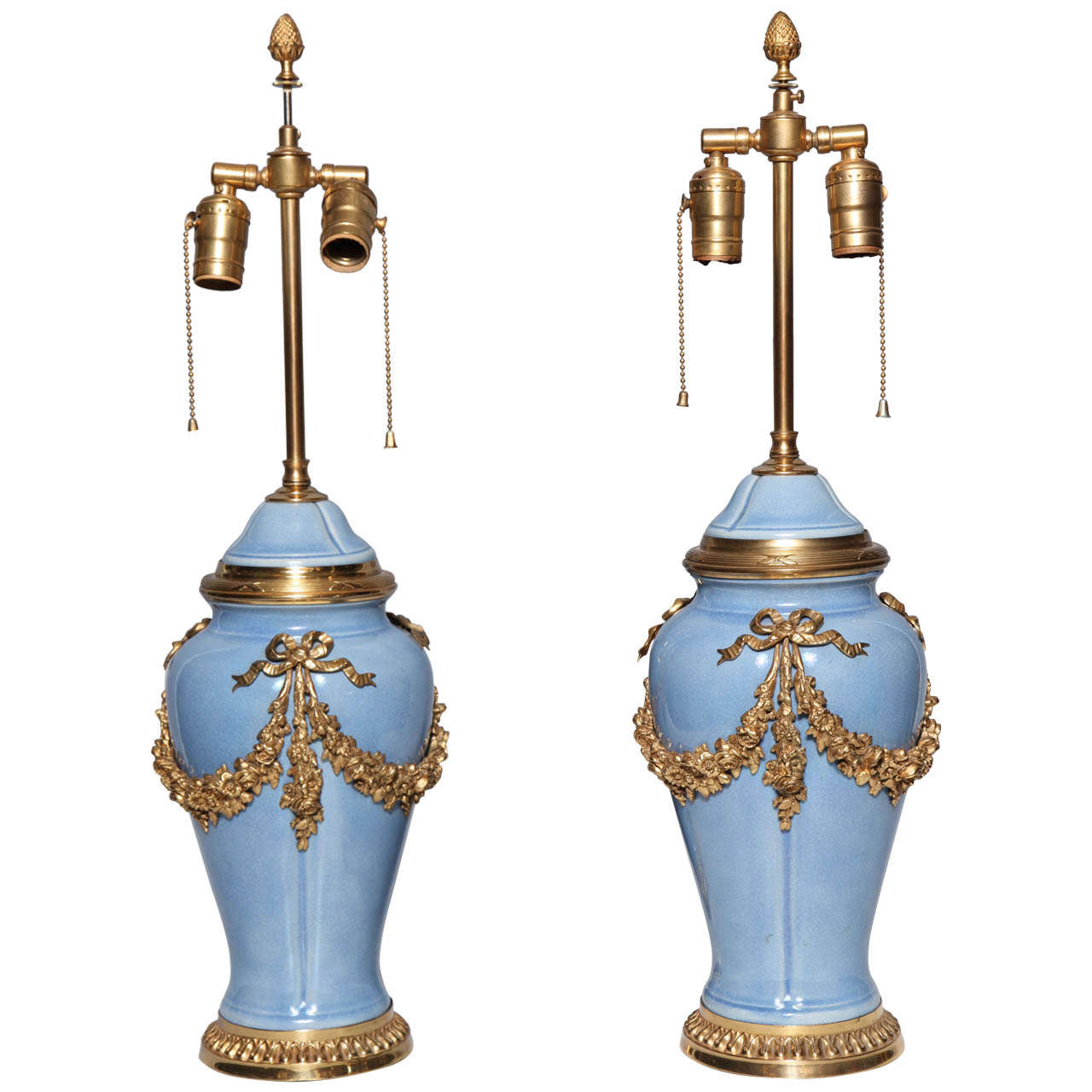pair of louis xvi style ormolu mounted chinese porcelain vases
