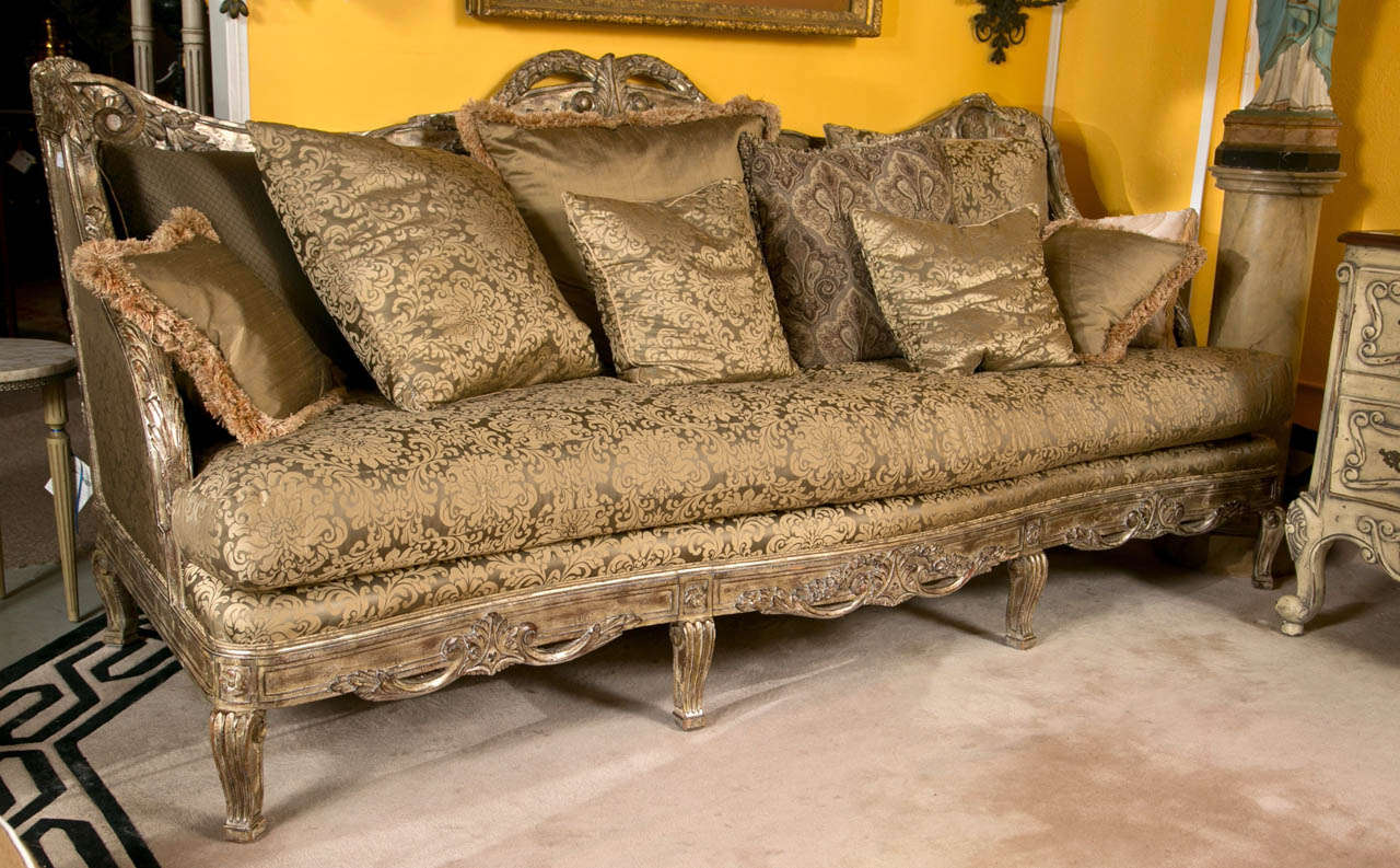 French furniture sofa - Palatial French Louis Xv Style Sofa Or Daybed 2