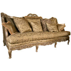 Palatial French Louis XV Style Sofa or Daybed