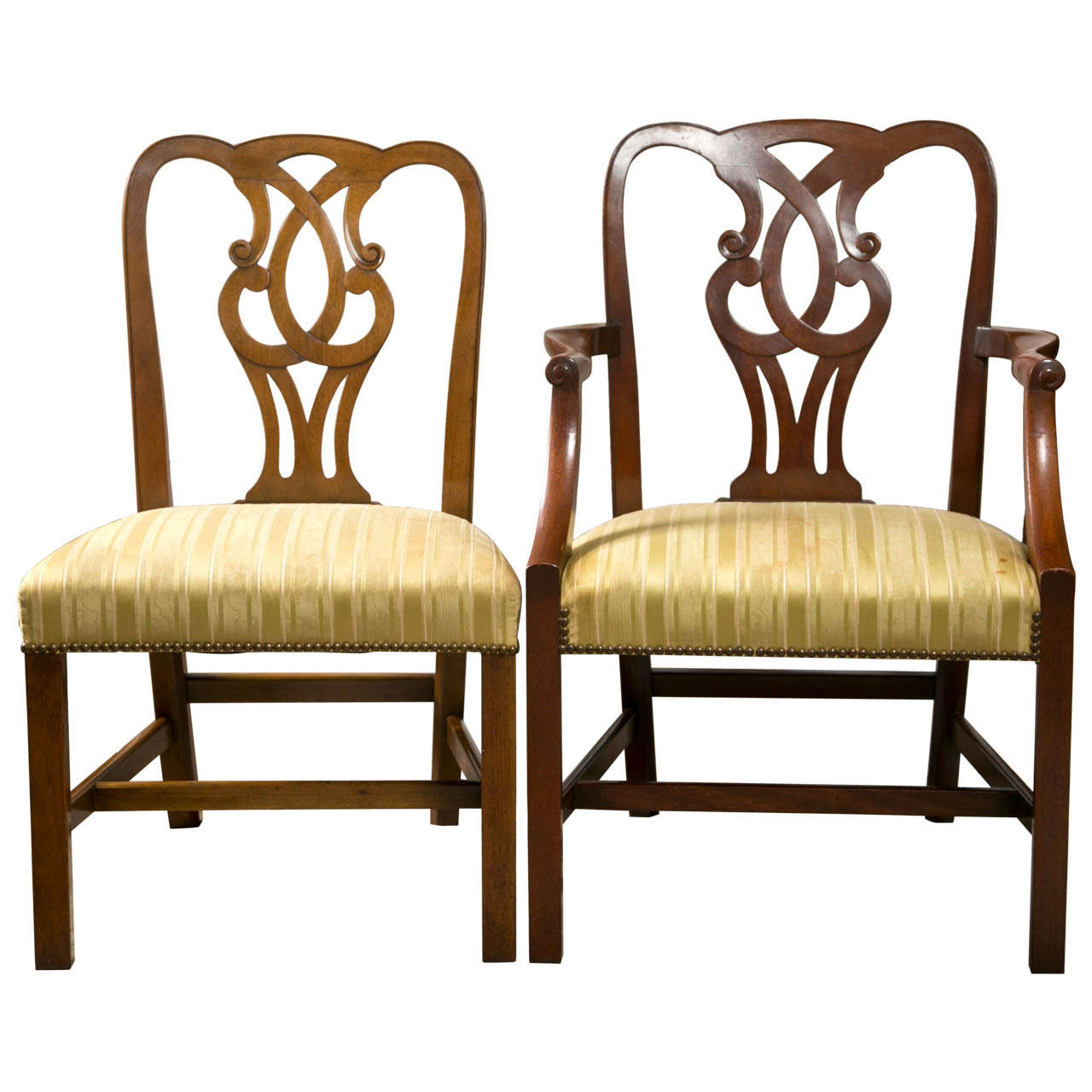 Set Of 10 English George I Style Dining Chairs By Baker At