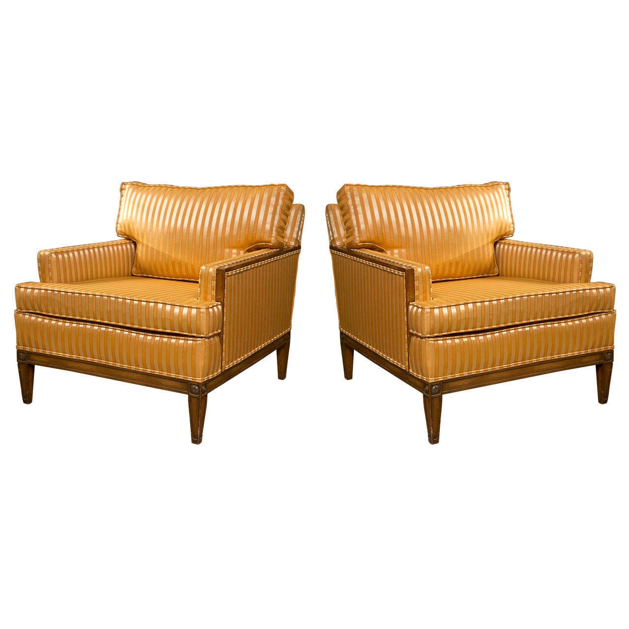 Pair Of Art Deco Style Club Chairs At 1stdibs