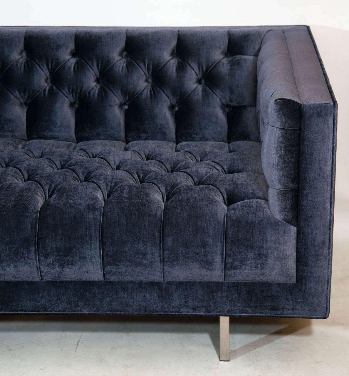 Modern Tufted Velvet Sofa For Sale At 1stdibs