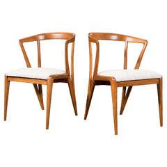Bertha Schaefer - Pair of Side Chairs