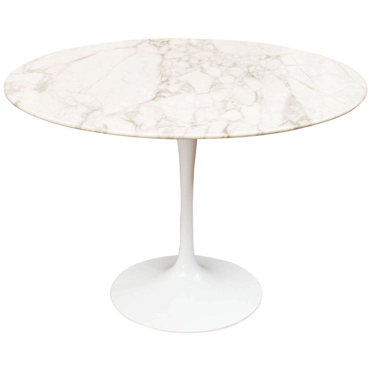 knoll marble tulip table at 1stdibs. Black Bedroom Furniture Sets. Home Design Ideas
