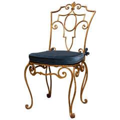 Italian Gilt Metal Chair