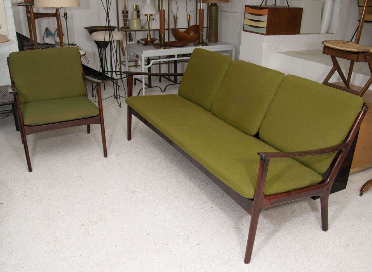 Ole Wanscher Rosewood Sofa and Chair Set For Sale 2