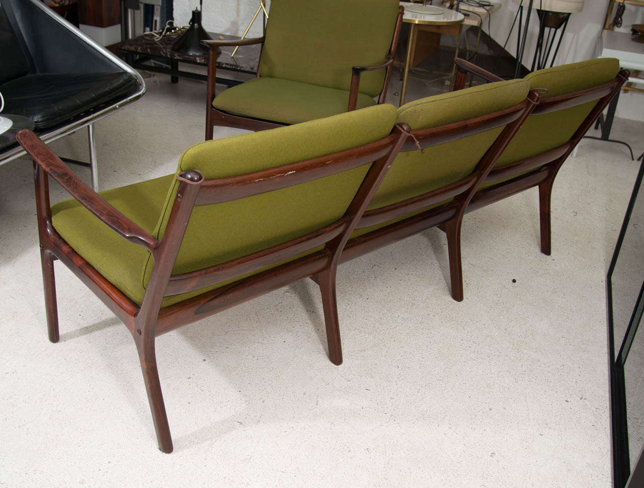 Ole Wanscher Rosewood Sofa and Chair Set For Sale 3