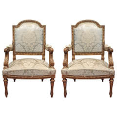 Pair of Louis XVI   Fauteuils