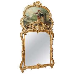 Louis XV Trumeau Mirror