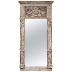 Creamy White Painted French Mirror