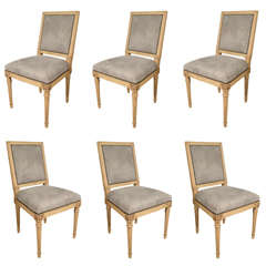 Antony Todd collection grey suede Louis XVI chairs