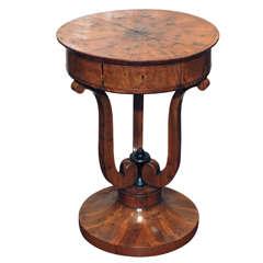 Italian Biedermeier Occasional Table of Olive Wood