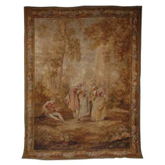 Antique French Beauvais Tapestry