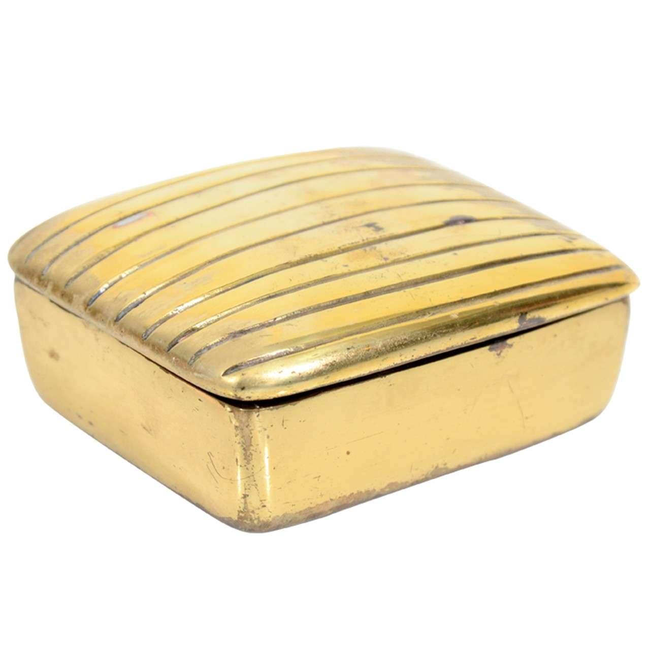 Ben Seibel Brass Ribbed Box for Jenfredware