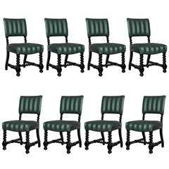 Set of Eight, Mid 19th Century English Dining Chairs