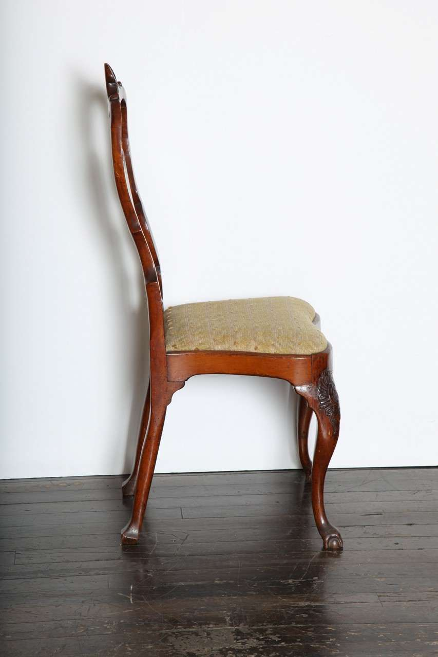 18th Century English Cabriole Leg Chair For Sale At 1stdibs