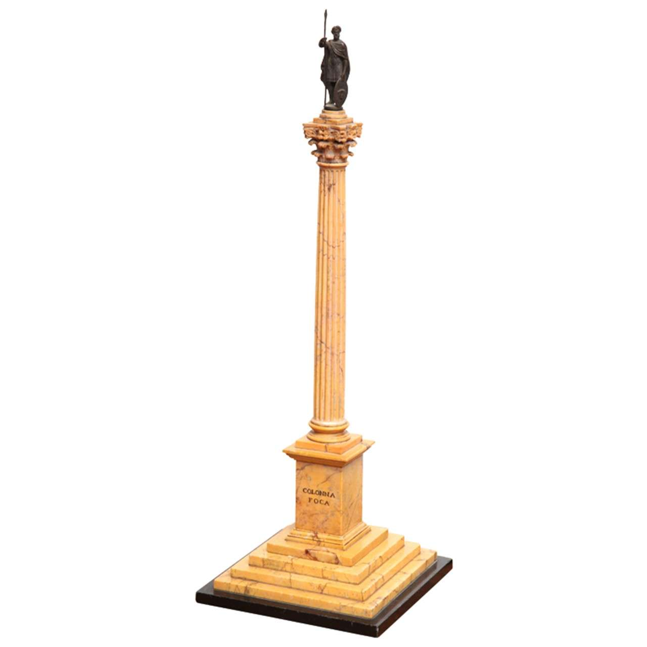19th Century Grand Tour Column of Phocas