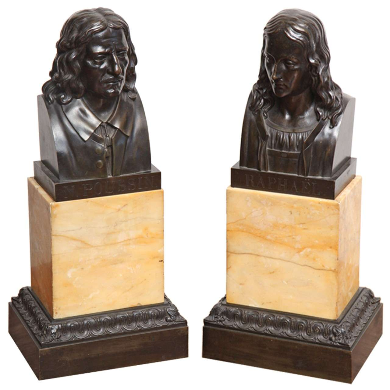 Two 19th Century French Bronze Busts