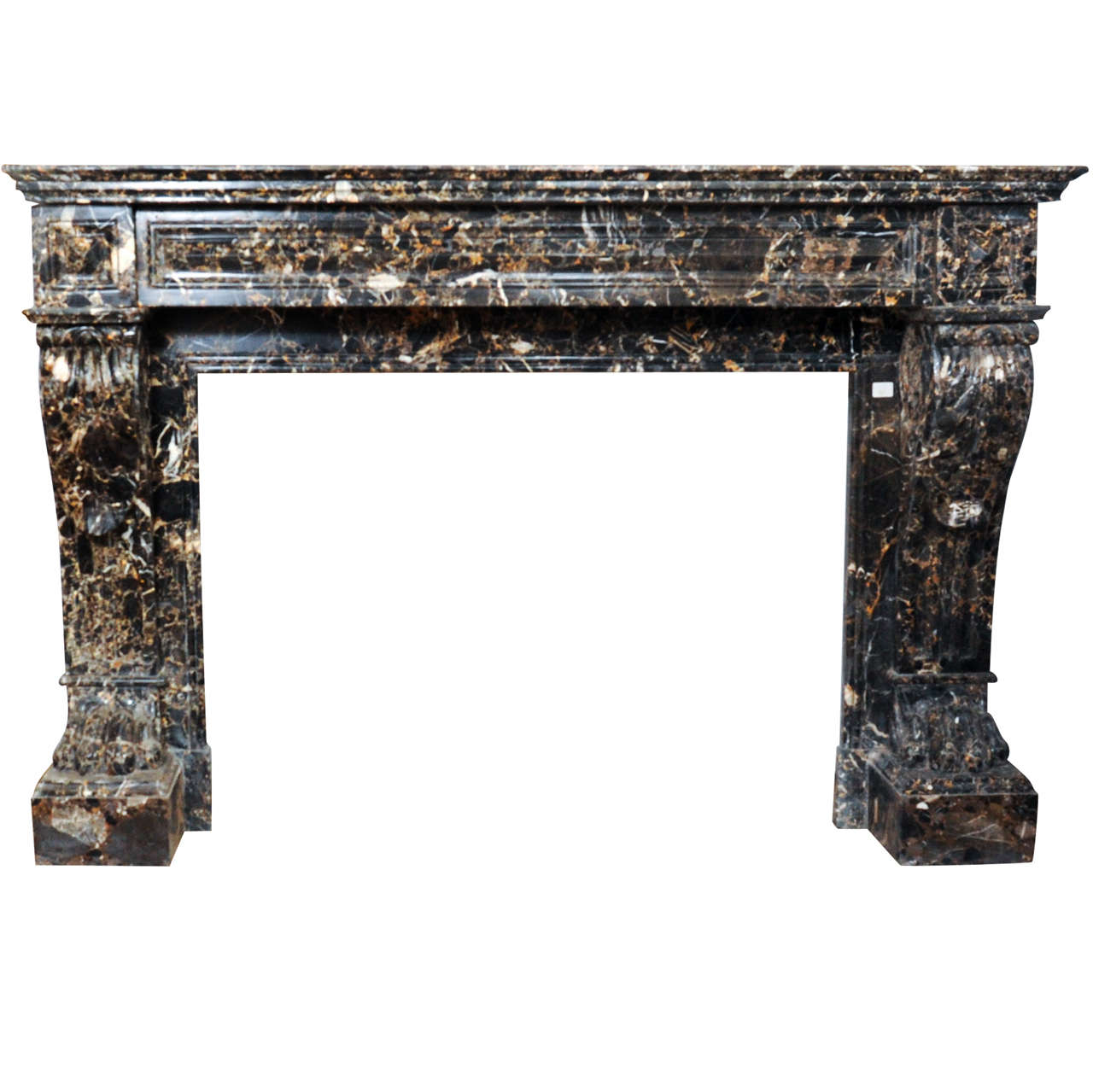 Early 19th century french empire sculpted marble fireplace mantel piece at 1stdibs - Fireplace mantel piece ...