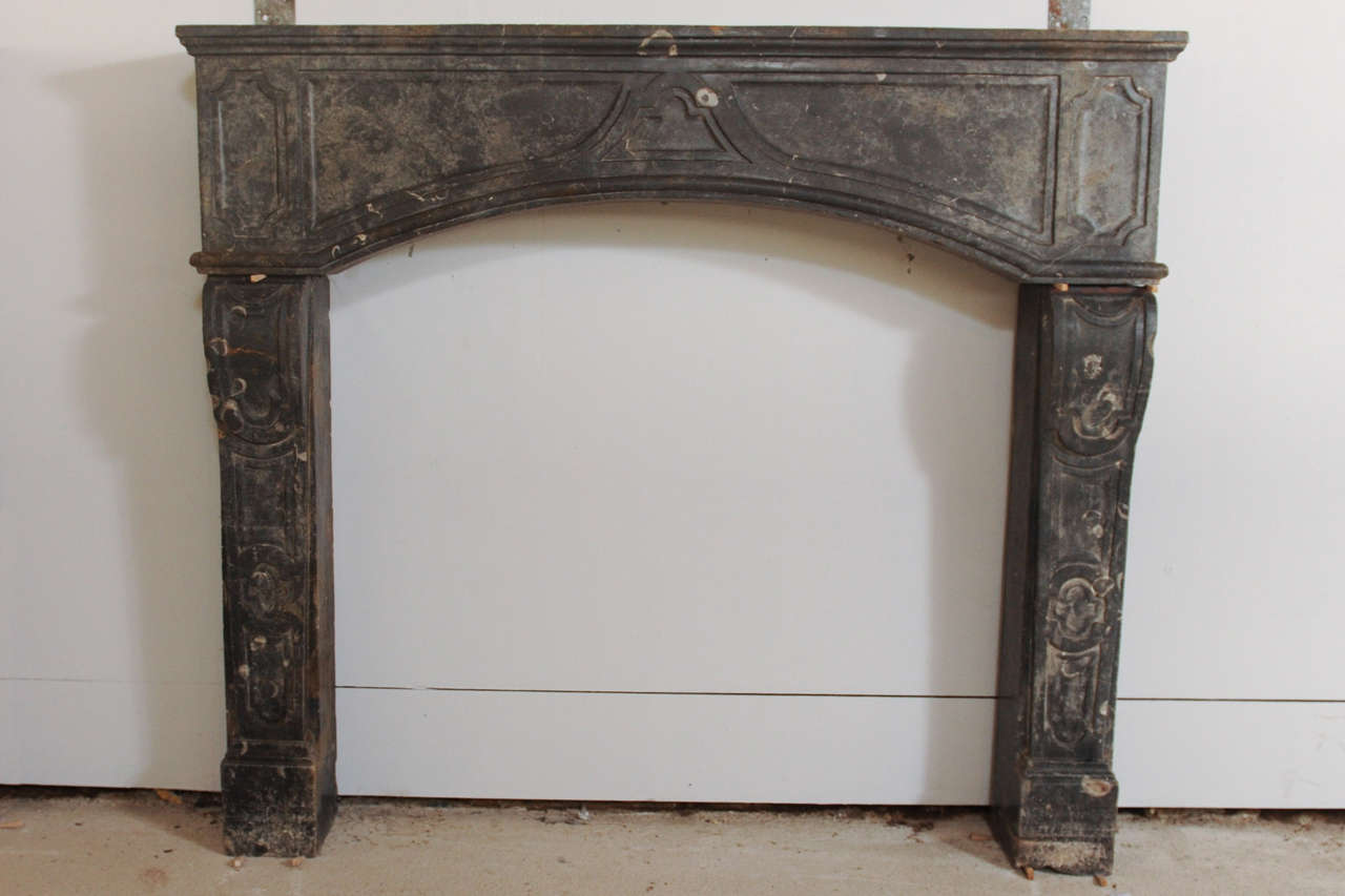 Rare early 18th c french marbleized limestone fireplace mantel piece for sale at 1stdibs - Fireplace mantel piece ...