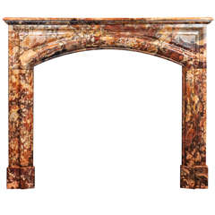 19th Century Sarrancolin Marble Fireplace